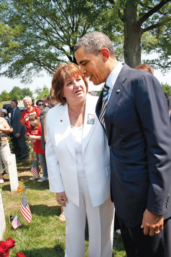 President Obama and Karen Meredith