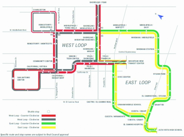 The two loop alternative. Map courtesy of the City of ...