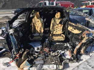 Driver Identified In Fiery Tesla Crash News Mountain View Online